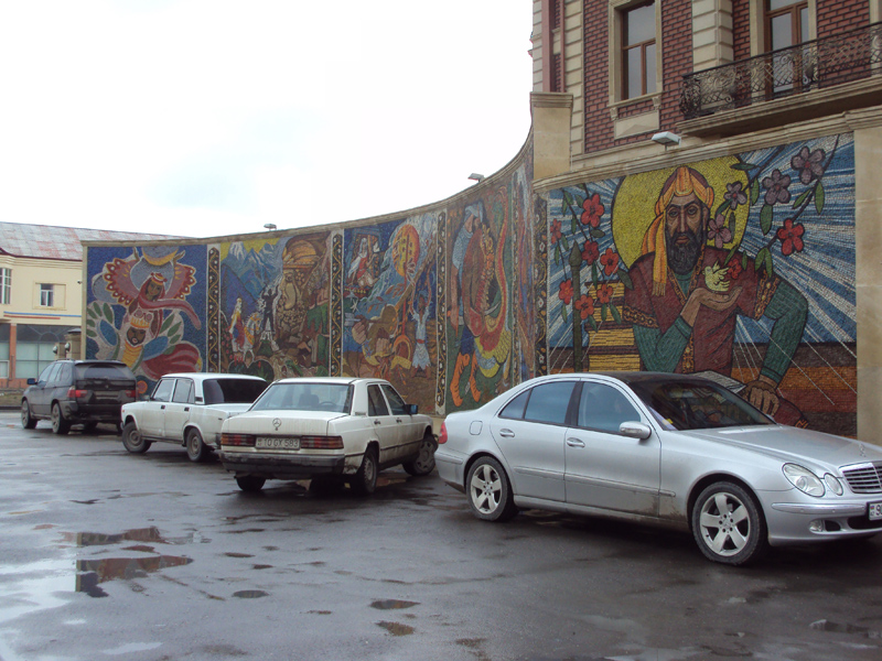 уличная мозайка в Баку. © Tim Tal