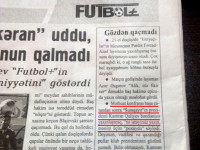 Азербайджанская спортивная газета опозорилась на всю страну — ФОТО