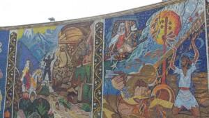 Уличная мозайка в Баку